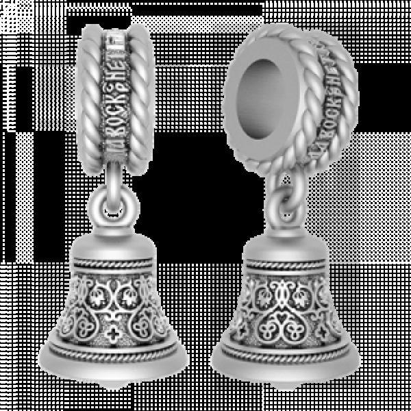Православная серебряная Бусина  «Благовест»