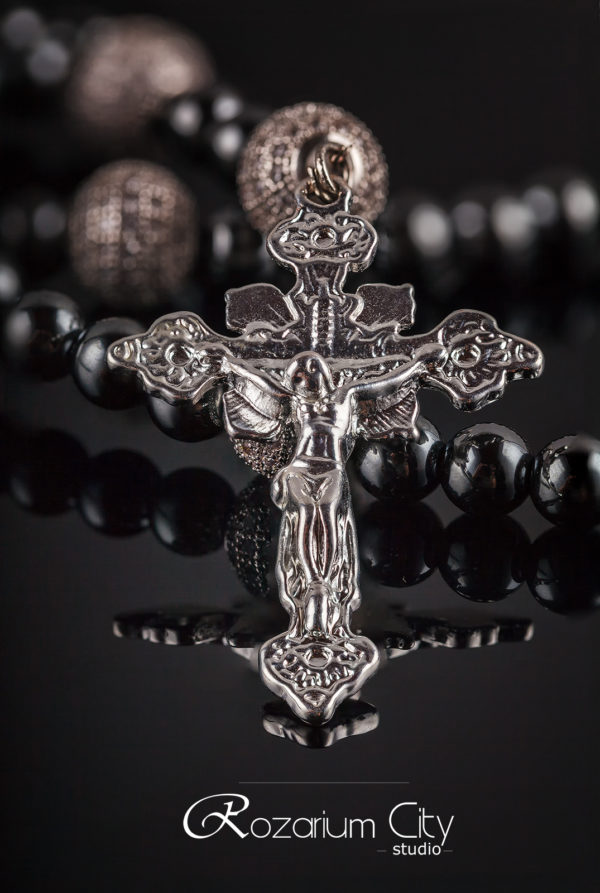 Православные четки. Гематит и фианиты