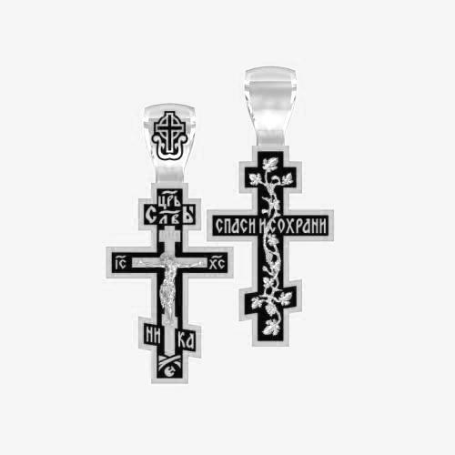 Нательный крест серебряный с распятием ВКр-18