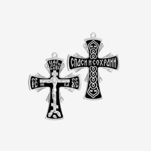 Нательный крест серебряный с распятием ВКр-27