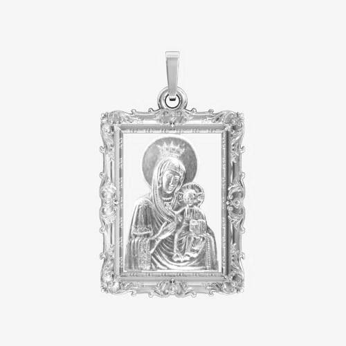 Ладанка серебряная Богородица ЛП-114