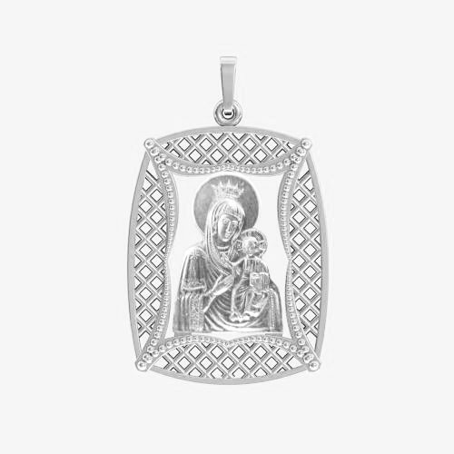 Ладанка серебряная Богородица ЛП-51