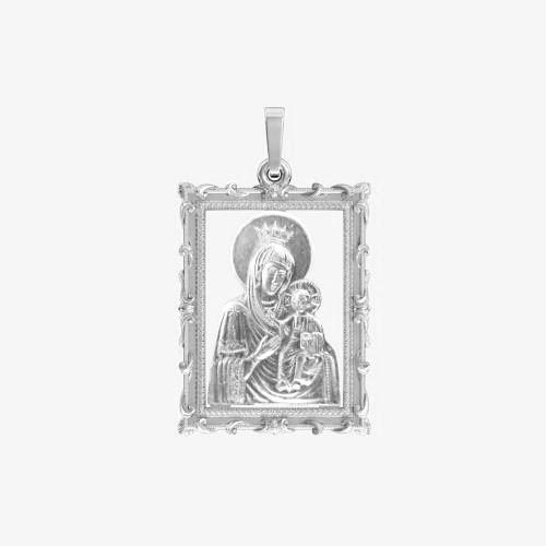 Ладанка серебряная Богородица ЛП-58