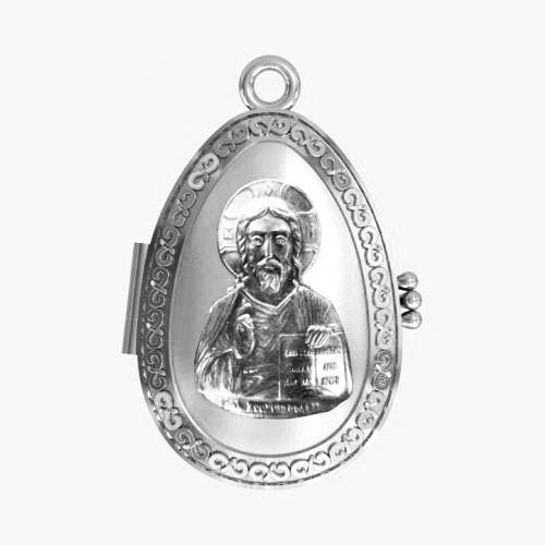Мощевик серебряный Господь Вседержитель ЛМ-26
