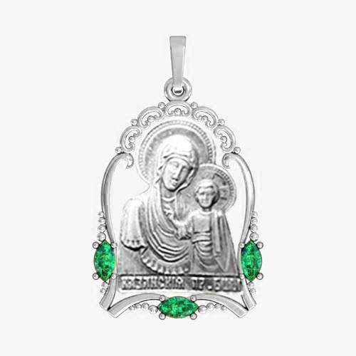 Ладанка серебряная Богородица ЛП-15