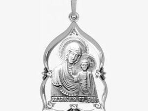Ладанка серебряная Богородица ЛП-1