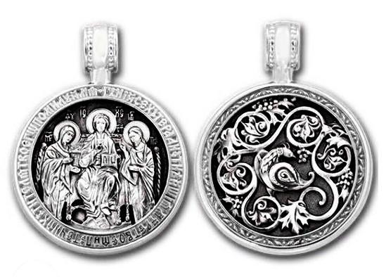 Образок серебряный Деисус 237-R
