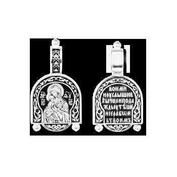 Образок серебряный Владимирская икона Божией Матери 8245-R