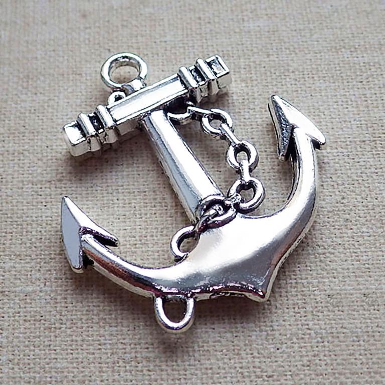 Подвеска серебряная Якорь с Цепью пс1107
