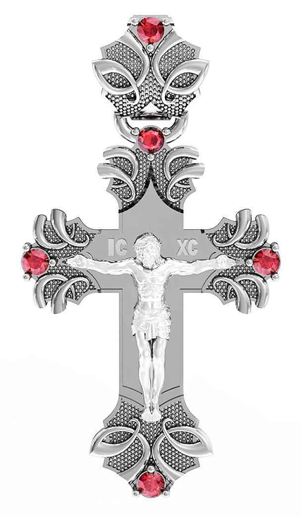 Крест серебряный Распятие Христово 411 670