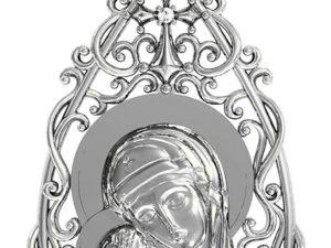 Ладанка серебряная Богородица 411 590