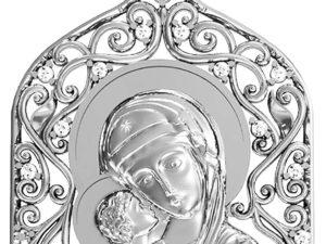 Ладанка серебряная Богородица 411 600