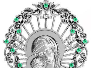 Ладанка серебряная Богородица  411 620