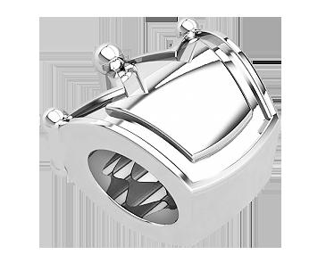 Бусина серебряная Шарм Корона