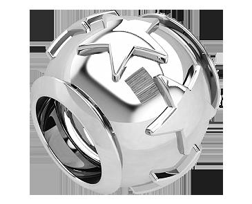 Бусина серебряная Шарм Звезда