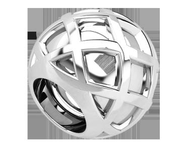 Бусина серебряная Шарм Космос