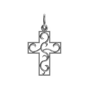 Крест серебряный Ажур