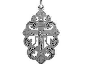 Крест серебряный Ажур с Распятием