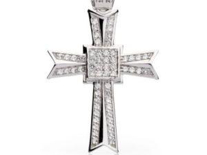 Крест нательный серебряный Море Камней