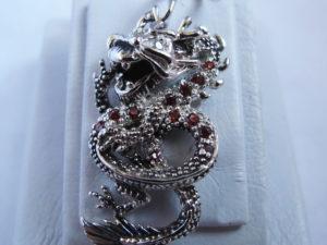 Кулонподвеска серебряный Дракон