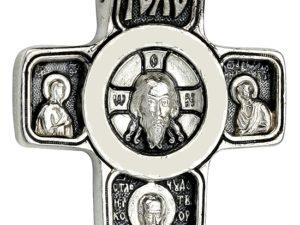 """Крест серебряный """"образ Иисуса Христа и Архангел Михаил"""""""