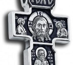 """Крест серебряный """"образ Иисуса Христа Затьмачье """""""