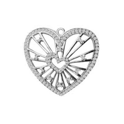 Кулон серебряный Сердце в Сердце 3304