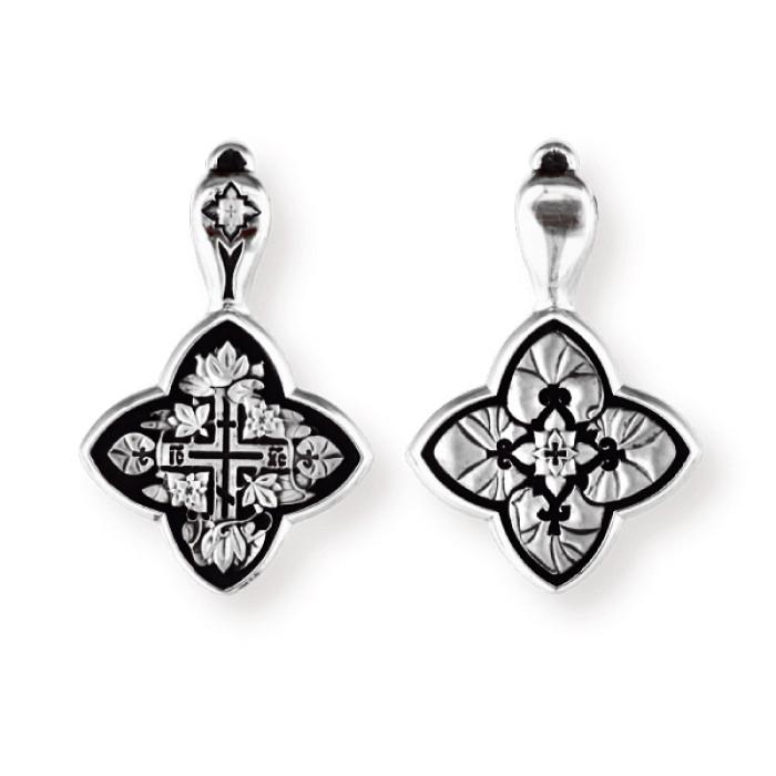 Православный серебряный крест Лилии 8717-R
