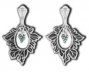 Подвеска православная серебряная Виноградная Лоза 8739-R