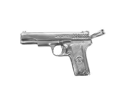 Кулон серебряный Пистолет ТТ