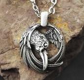 Кулон серебряный Ворон