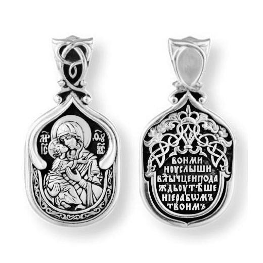 ОБРАЗОК серебряный ВЛАДИМИРСКАЯ ИКОНА БОЖИЕЙ МАТЕРИ 8131-R
